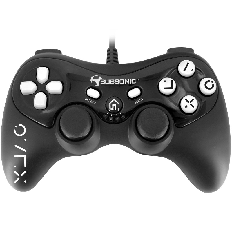 subsonic pro controller black white ps3 accessoires ps3 subsonic sur. Black Bedroom Furniture Sets. Home Design Ideas