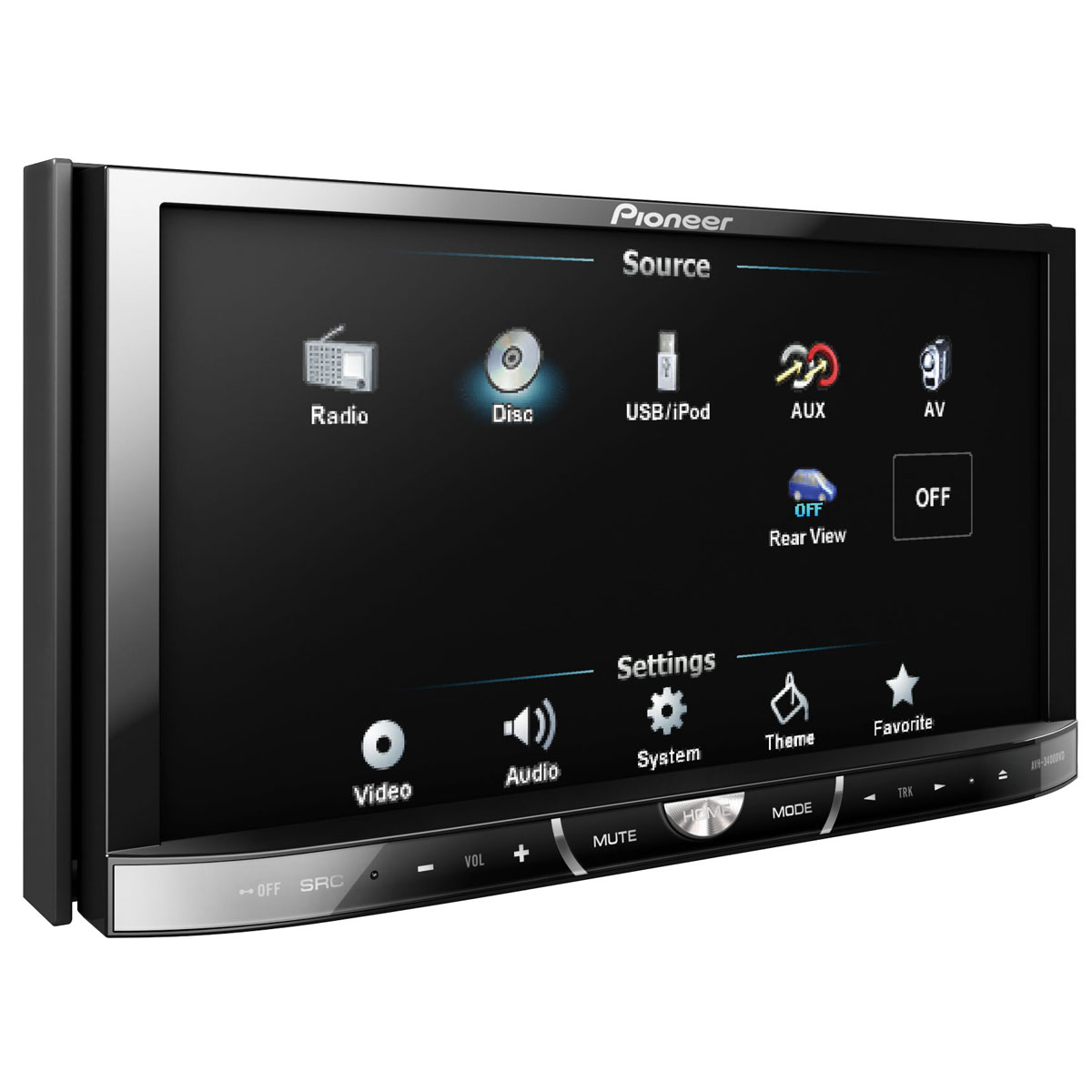 pioneer avh 3400dvd autoradio pioneer sur. Black Bedroom Furniture Sets. Home Design Ideas