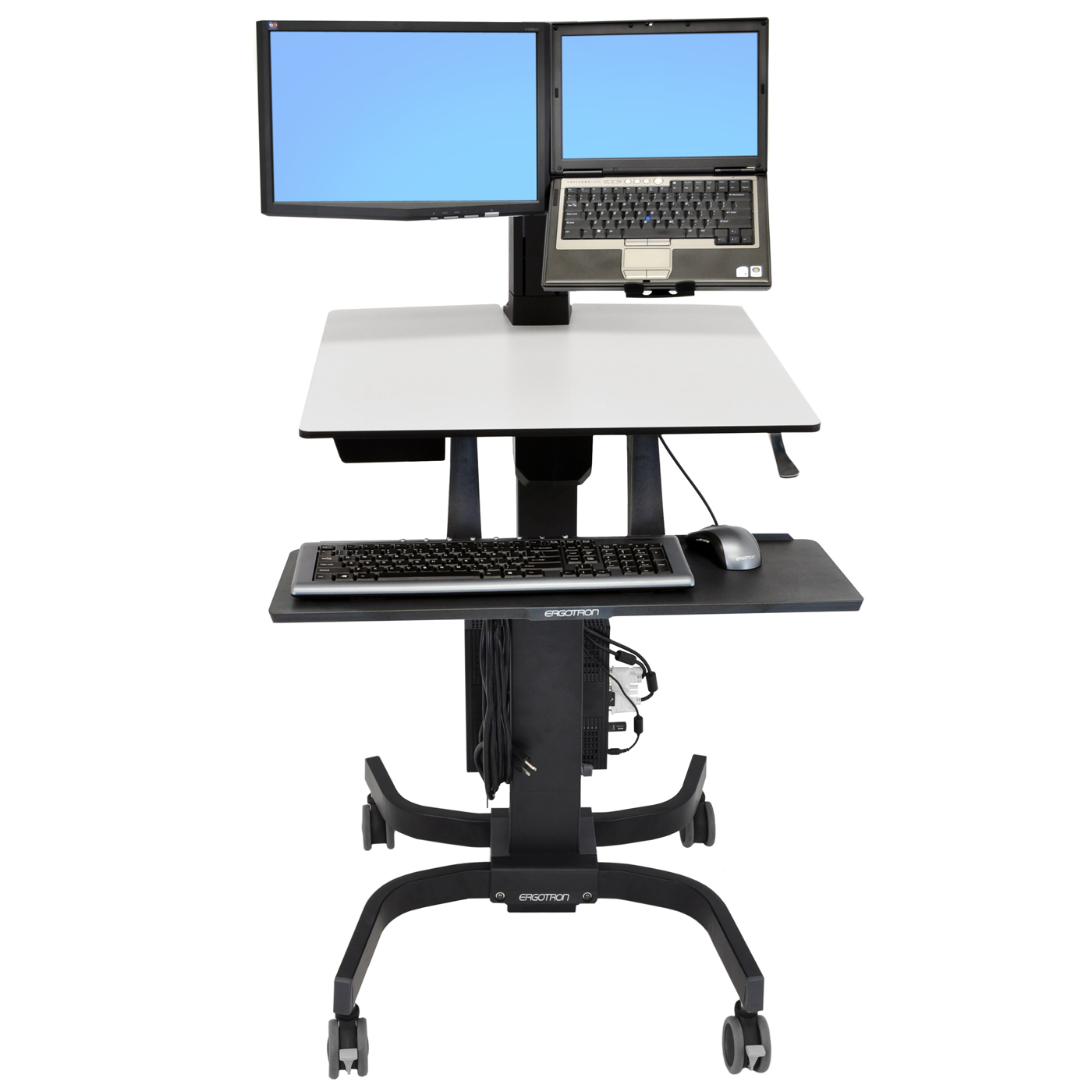 ergotron workfit c lcd laptop bras pied ergotron sur. Black Bedroom Furniture Sets. Home Design Ideas