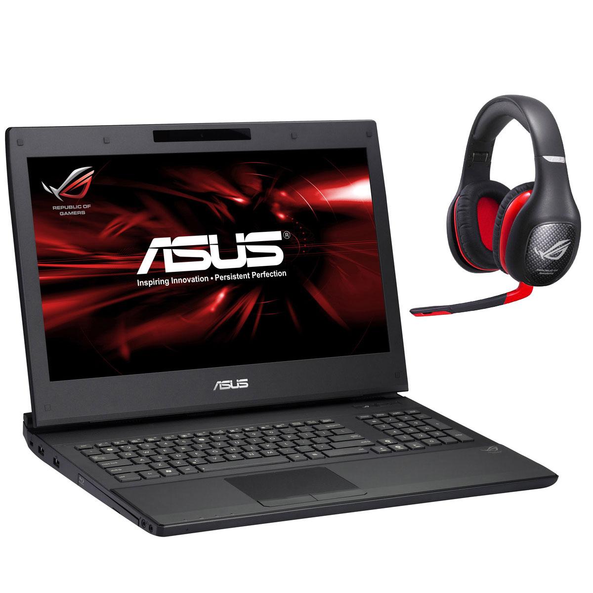 "PC portable ASUS G74SX-TZ378V + ASUS Vulcan ANC Intel Core i7-2670QM 8 Go 750 Go + SSD 256 Go 17.3"" LED NVIDIA GeForce GTX 560M Graveur DVD Wi-Fi N/BT Webcam Windows 7 Premium 64 bits (garantie constructeur 2 ans)"