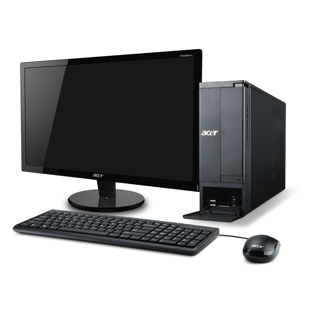 acer aspire x1430 006 pc de bureau acer sur. Black Bedroom Furniture Sets. Home Design Ideas