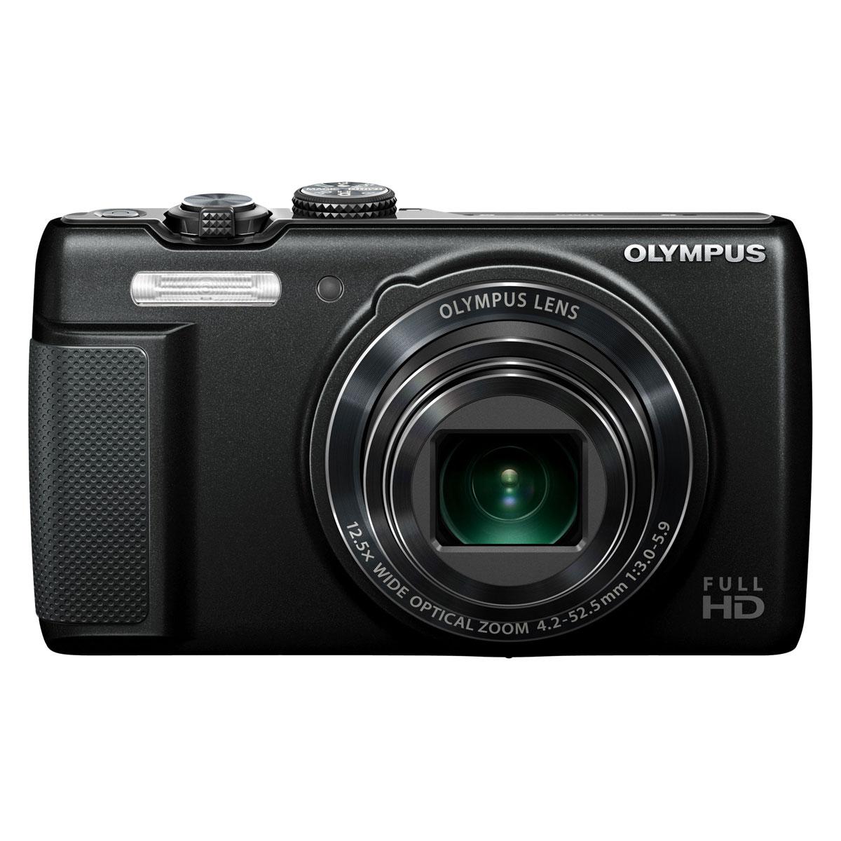 Appareil photo numérique Olympus SH-21 Noir Appareil photo 16 MP - Zoom grand-angle 12,5x - Vidéo Full HD 1080p - Capteur rétro-éclairé