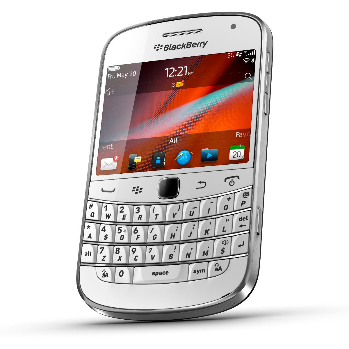 Blackberry bold 9900 qwerty blanc mobile smartphone for Photo ecran blackberry