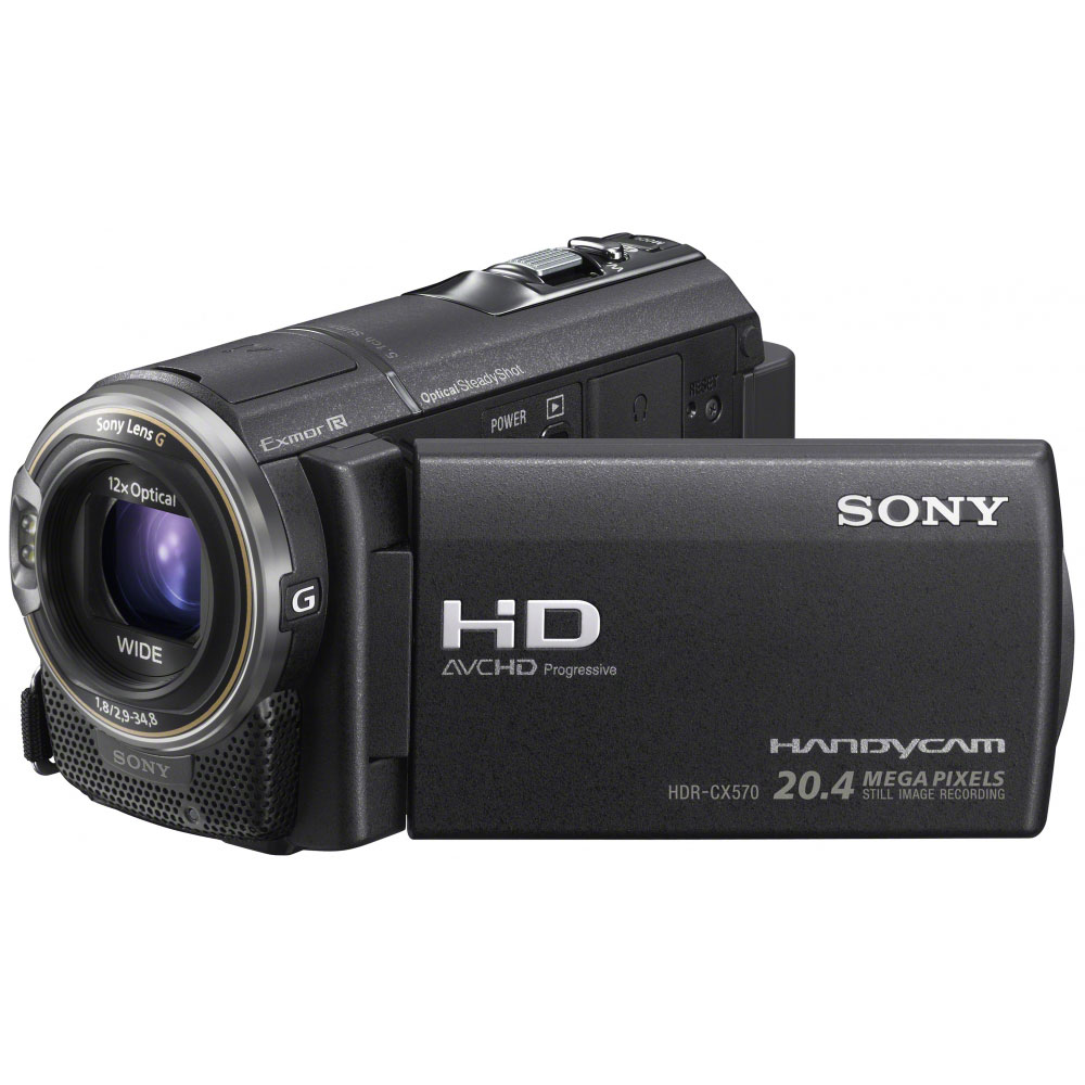sony hdr cx570 noir cam scope num rique sony sur. Black Bedroom Furniture Sets. Home Design Ideas
