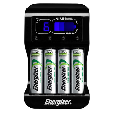energizer intelligent charger 4 piles aa lr06 2000 mah. Black Bedroom Furniture Sets. Home Design Ideas