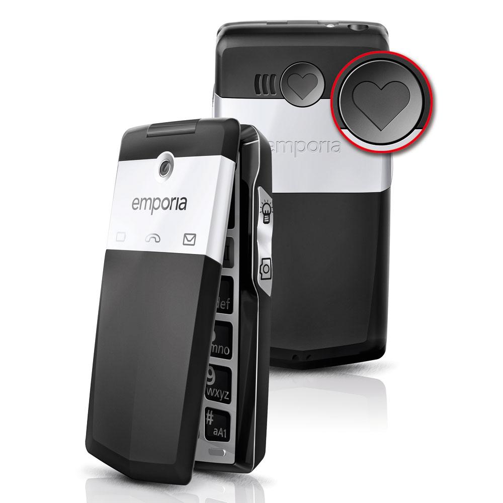 Mobile & smartphone Emporia Click Soft Touch Noir Téléphone 2G à larges touches et à volume élevé