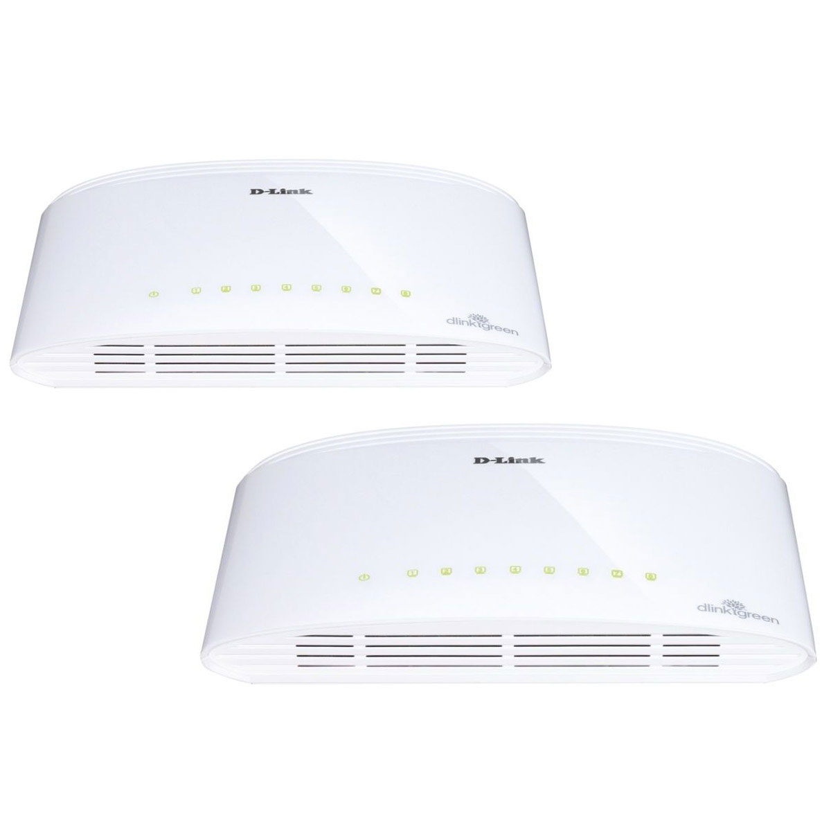 Switch D-Link DGS-1008D x2 Switch Gigabit 8 ports 10/100/1000Mbps - Pack de 2