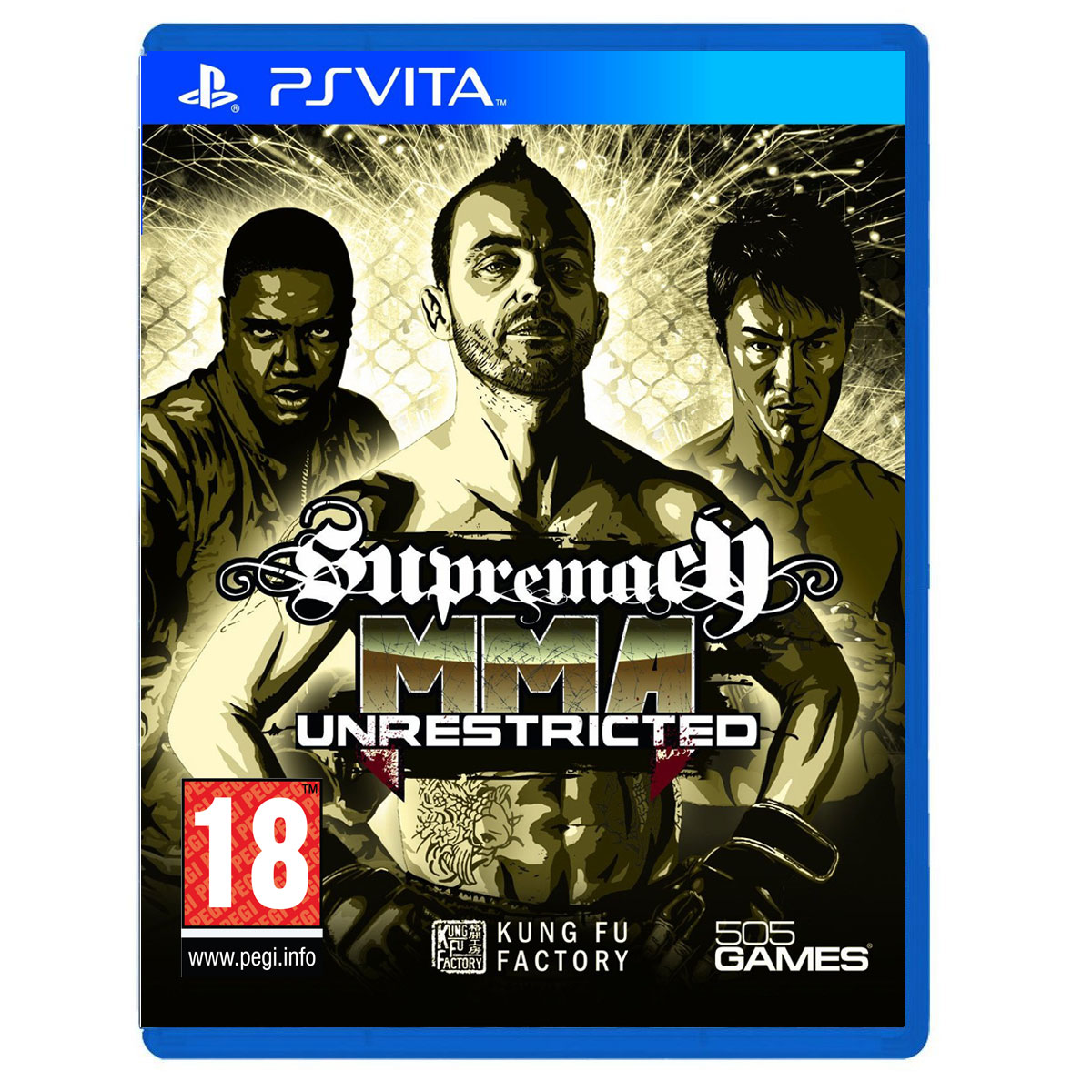 supremacy mma unrestricted ps vita 505 games sur. Black Bedroom Furniture Sets. Home Design Ideas