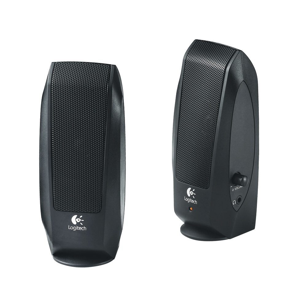 Enceinte PC Logitech S-120 version OEM Ensemble 2.0 - 2.3 Watts - Jack 3.5 mm