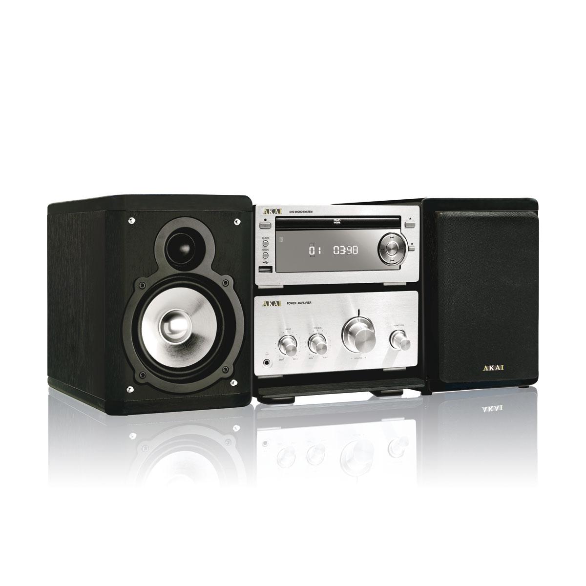 Chaîne Hifi Akai AMD 60 Micro chaine DVD MP3 USB avec sortie HDMI