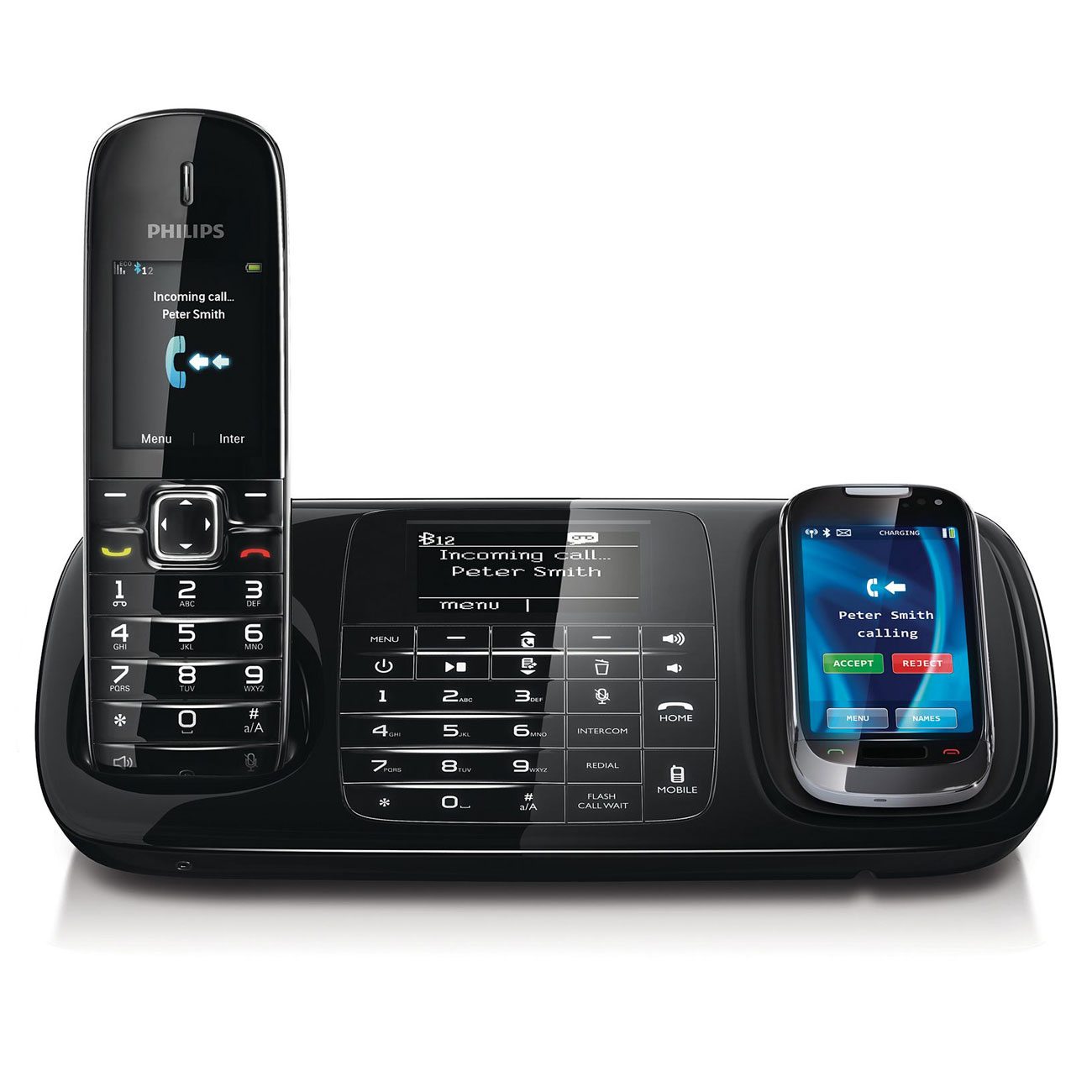 philips se8881b noir t l phone sans fil philips sur. Black Bedroom Furniture Sets. Home Design Ideas
