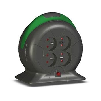 enrouleur lectrique automatique 4 prises 3 m tres c ble secteur g n rique sur. Black Bedroom Furniture Sets. Home Design Ideas