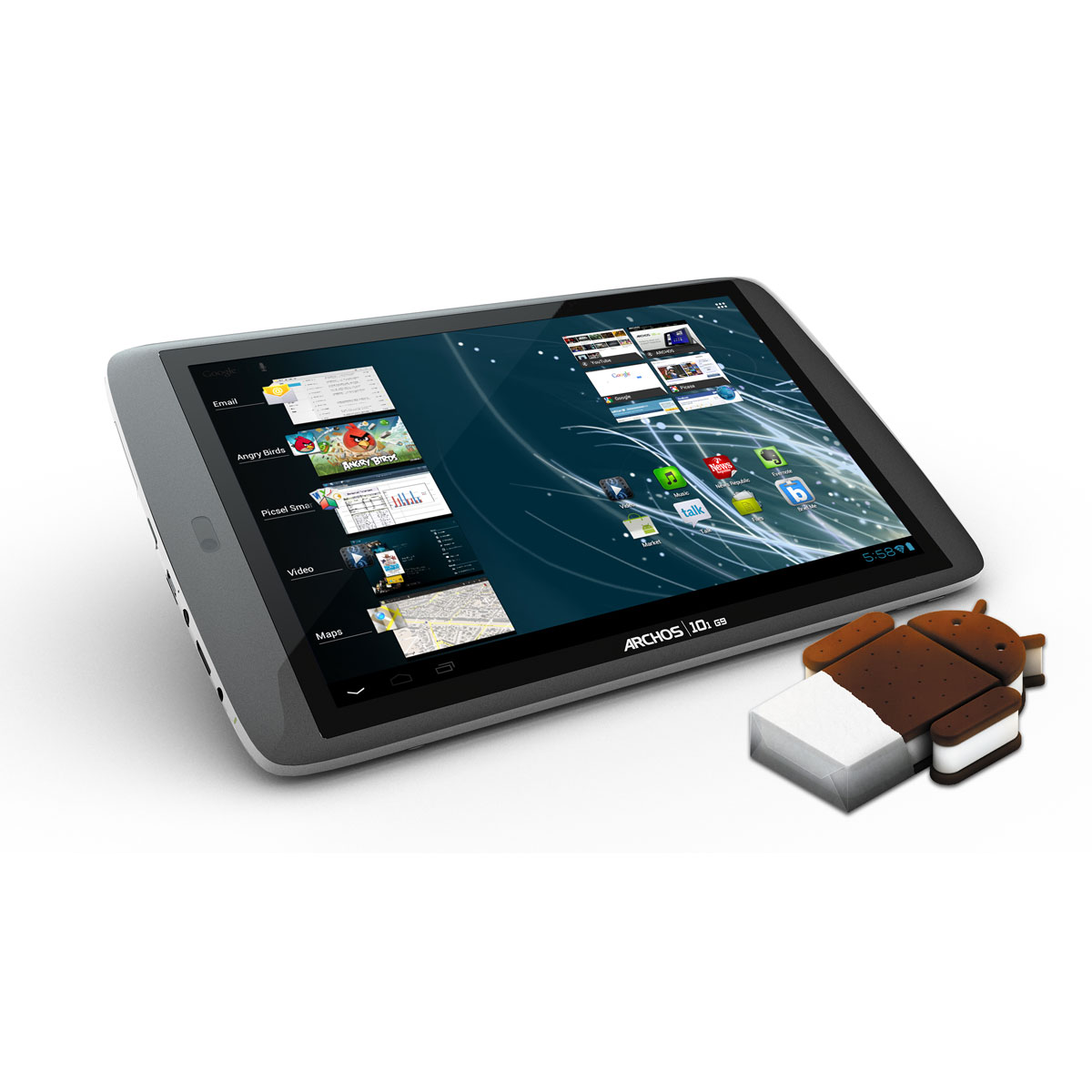 """Tablette tactile Archos 101 G9 Turbo ICS 250 Go Tablette Internet - OMAP 4 Smart multi-core 1.5 GHz 250 Go 10"""" LCD tactile Wi-Fi N/Bluetooth Webcam Android 4.0"""
