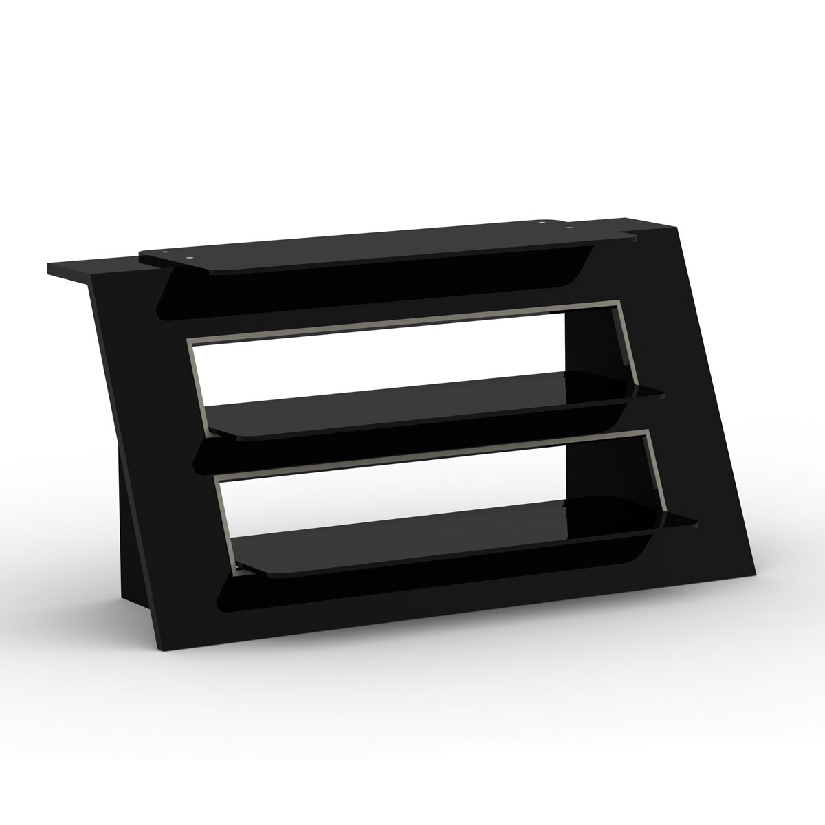 elmob alexa al 110 06 noir meuble tv elmob sur. Black Bedroom Furniture Sets. Home Design Ideas