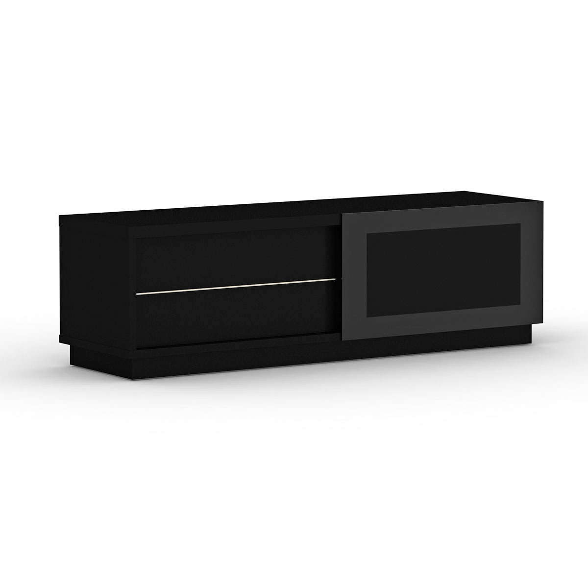 elmob harmony ha 160 02 noir meuble tv elmob sur. Black Bedroom Furniture Sets. Home Design Ideas