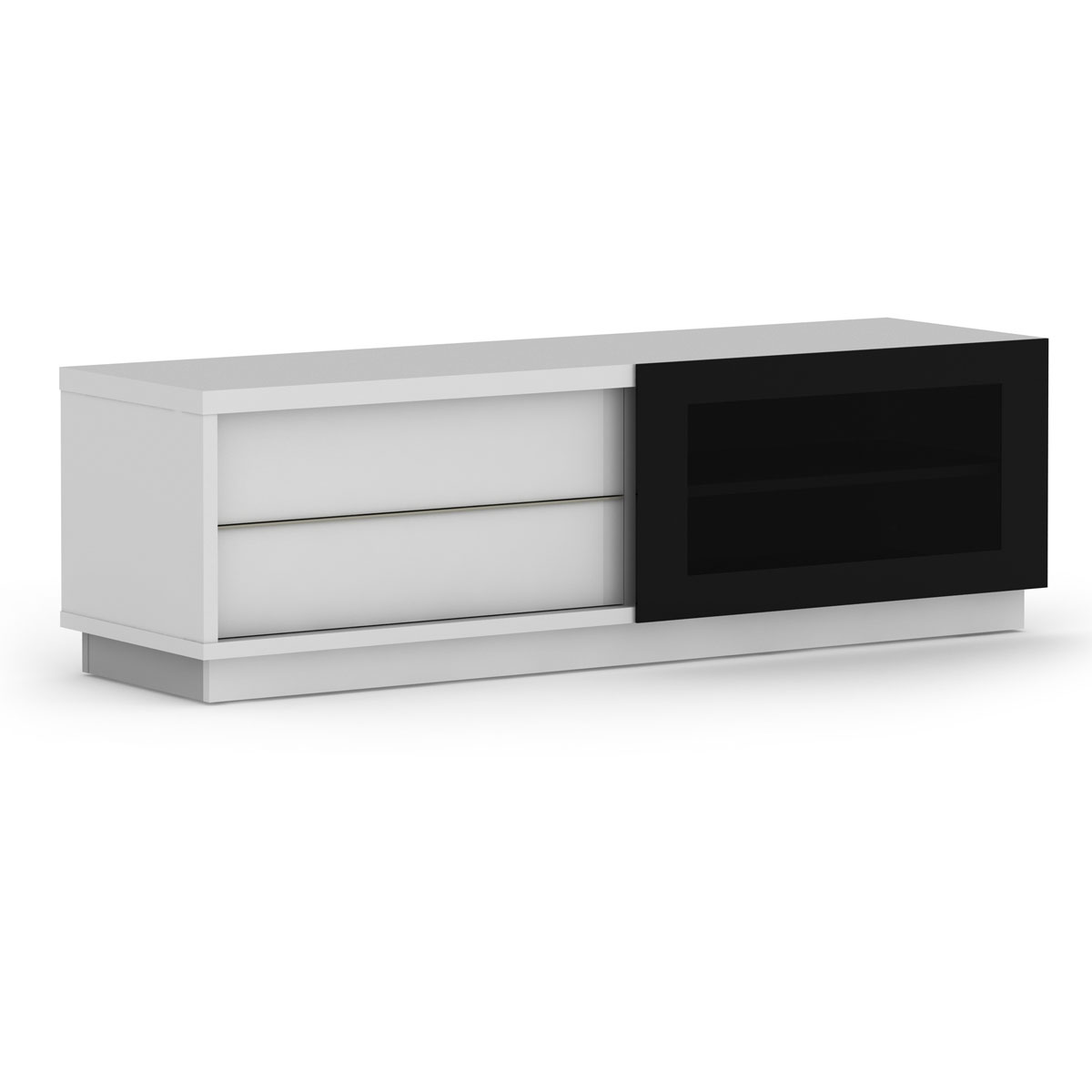 elmob harmony ha 160 02 blanc meuble tv elmob sur. Black Bedroom Furniture Sets. Home Design Ideas