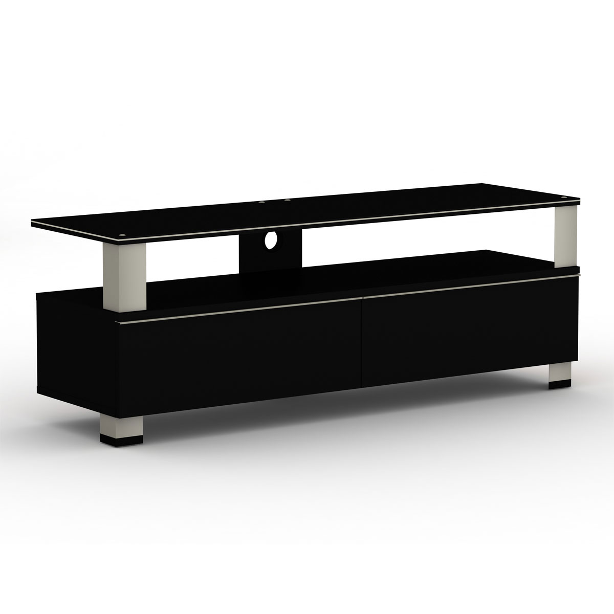 elmob tura tu 140 03 noir meuble tv elmob sur. Black Bedroom Furniture Sets. Home Design Ideas