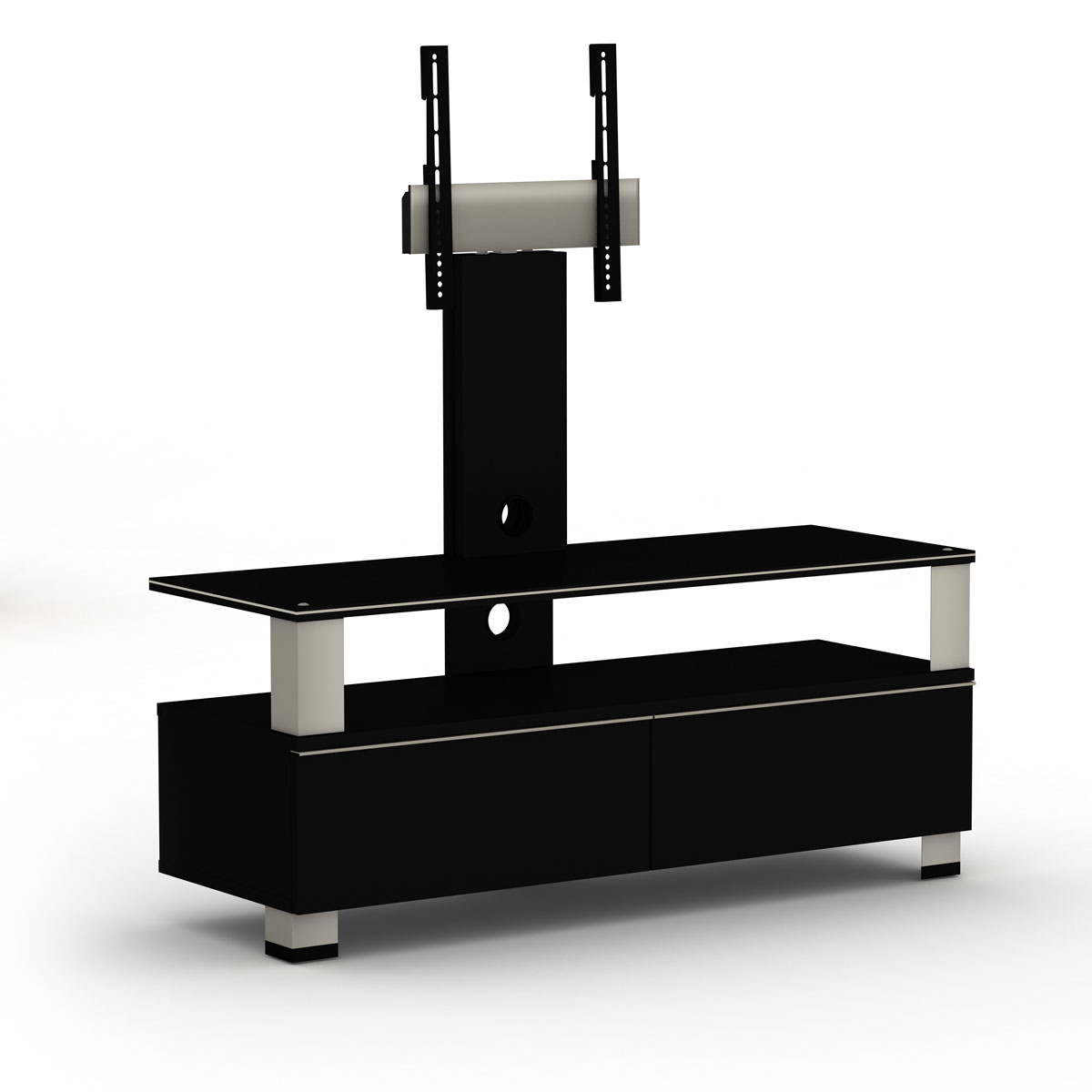 elmob tura tu 120 02f noir meuble tv elmob sur. Black Bedroom Furniture Sets. Home Design Ideas