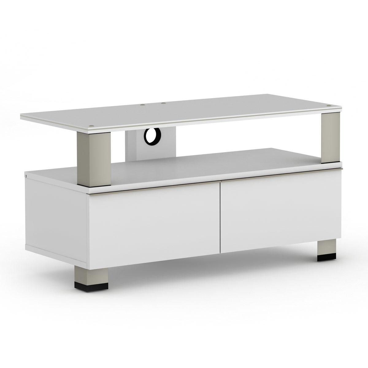 Elmob tura tu 095 01 blanc meuble tv elmob sur - Meuble ecran videoprojecteur ...