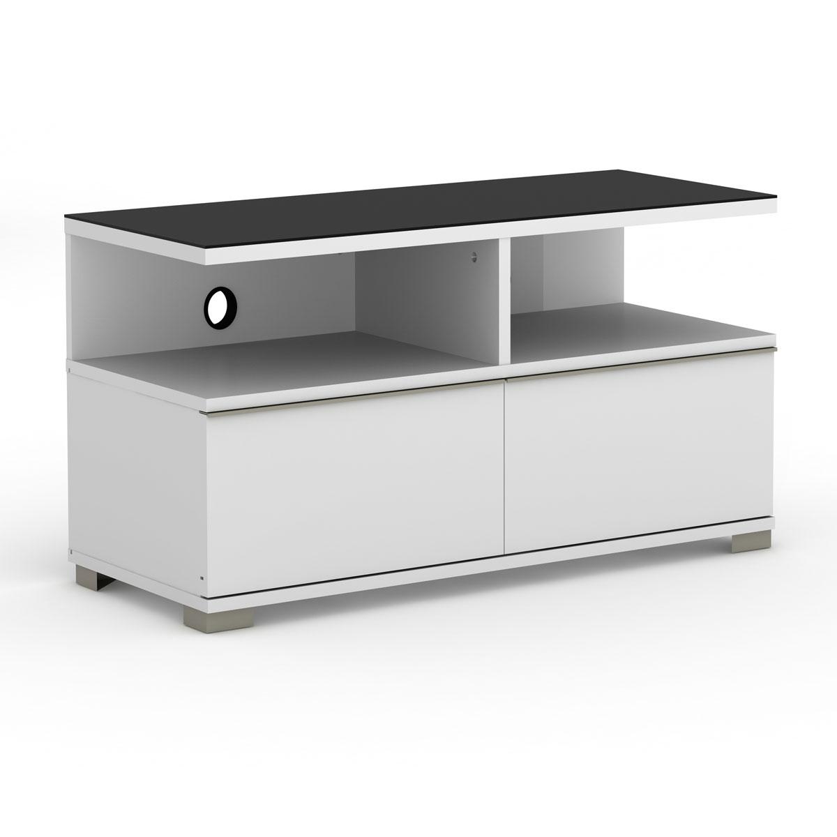 Elmob pardus pr 095 01 blanc meuble tv elmob sur ldlc for Meuble mural videoprojecteur