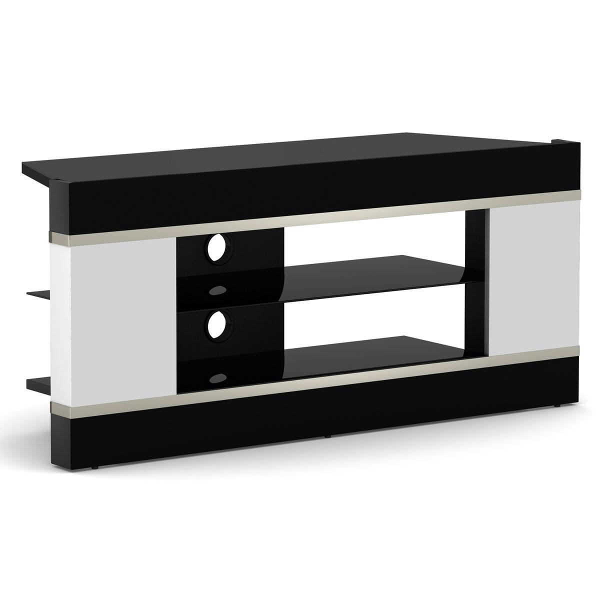 Elmob linos li 110 01 blanc meuble tv elmob sur ldlc for Meuble mural videoprojecteur