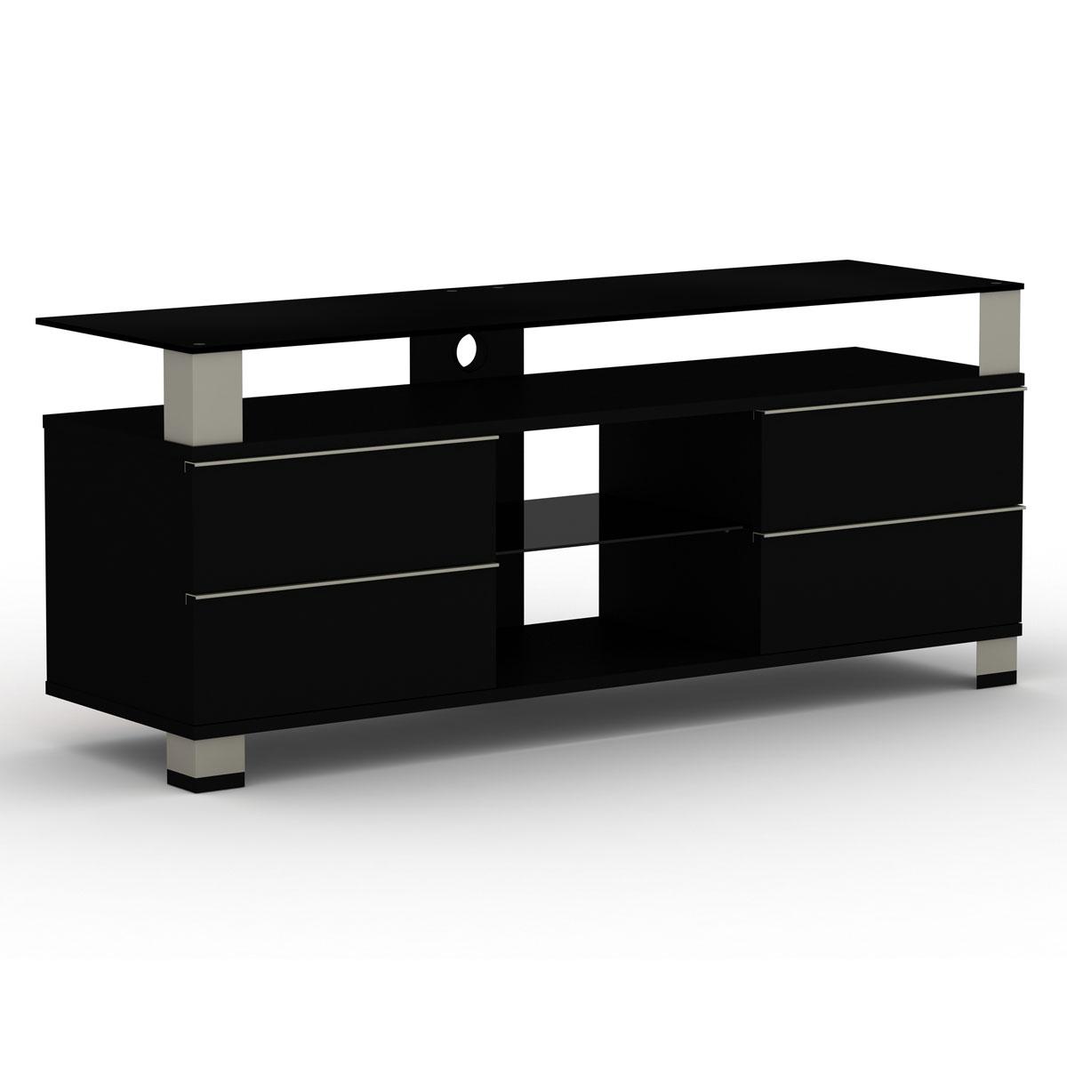 Elmob pone pn 140 03 noir meuble tv elmob sur for Meubles pour television ecran plat