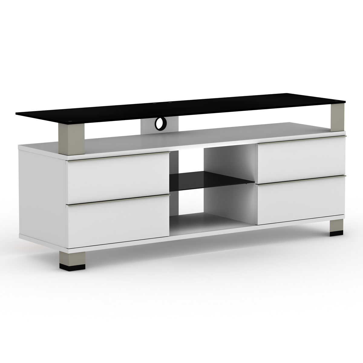 elmob pone pn 140 03 blanc meuble tv elmob sur. Black Bedroom Furniture Sets. Home Design Ideas