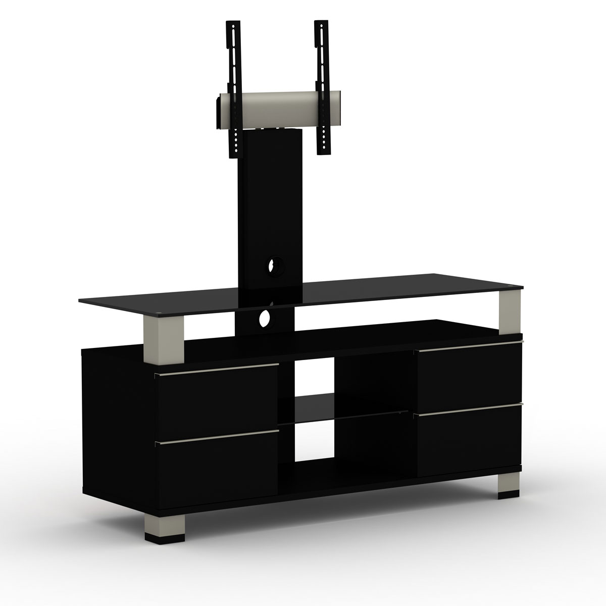 elmob pone pn 120 02f noir meuble tv elmob sur. Black Bedroom Furniture Sets. Home Design Ideas