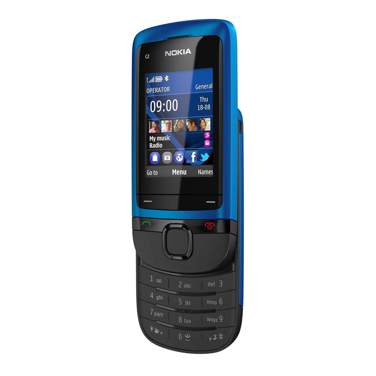Mobile & smartphone Nokia C2-05 Peaco Blue Téléphone slider 2G