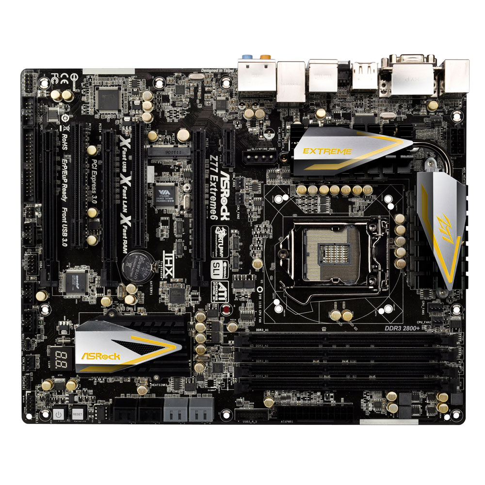 asrock z77 extreme6 carte m re asrock sur. Black Bedroom Furniture Sets. Home Design Ideas