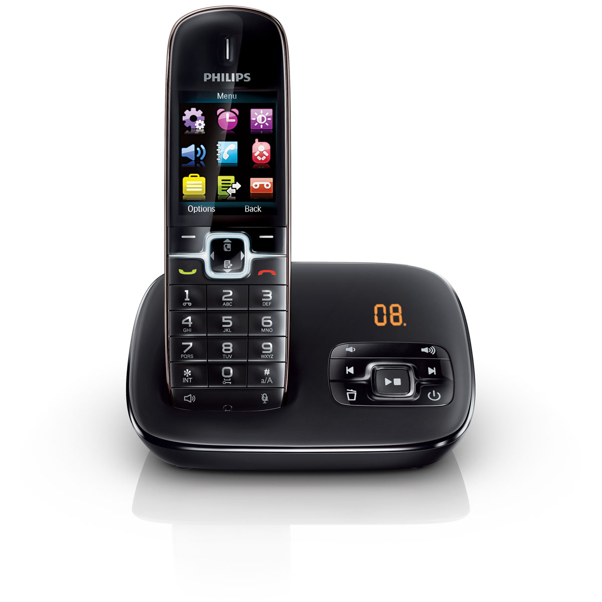 philips cd6951 noir t l phone sans fil philips sur. Black Bedroom Furniture Sets. Home Design Ideas