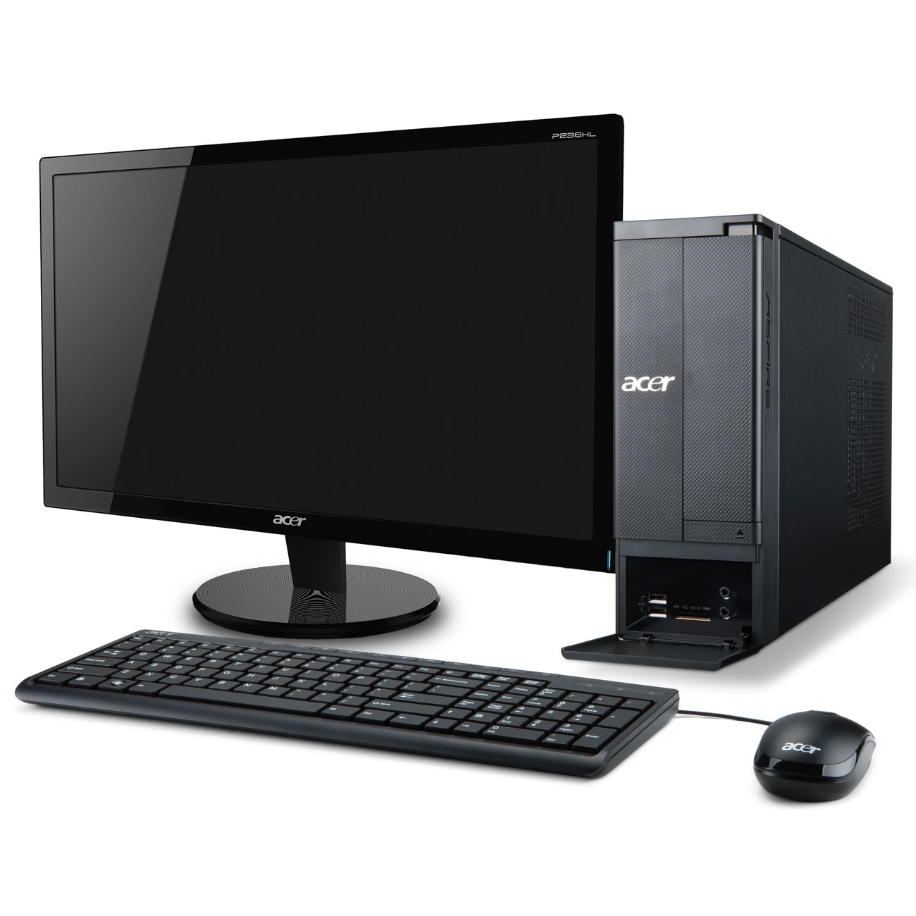 Acer aspire x1430 007 ob 20 pc de bureau acer sur for Ordinateur de bureau pour retouche photo