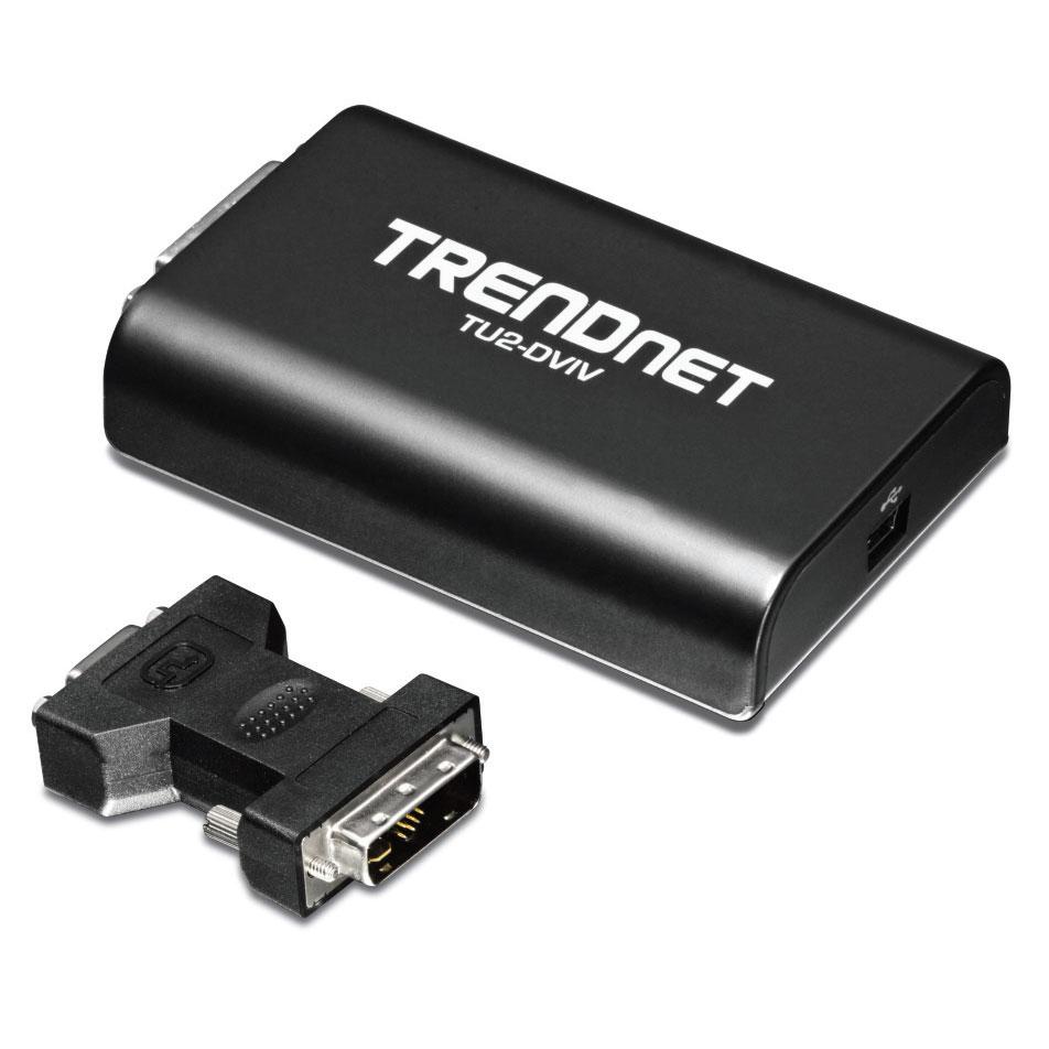 Accessoires PC portable TRENDnet TU2-DVIV Adaptateur USB vers DVI/VGA