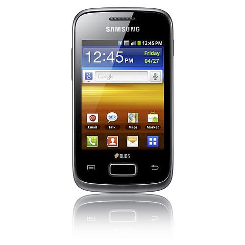 """Mobile & smartphone Samsung Galaxy Y Duos GT-S6102 Noir Smartphone 3G+ Dual Sim avec écran tactile 3"""" sous Android 2.3"""