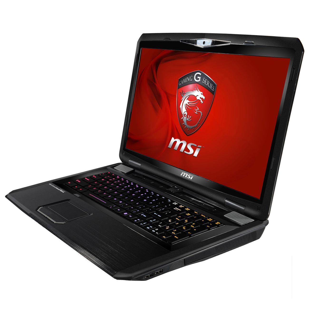 "PC portable MSI GT70 0NE-255FR Intel Core i7-3610QM 12 Go SSD 2x 64 Go + HDD 750 Go 17.3"" LED NVIDIA GeForce GTX 680M Lecteur Blu-ray/Graveur DVD Wi-Fi N/BT Webcam Windows 7 Premium 64 bits (garantie constructeur 2 ans)"
