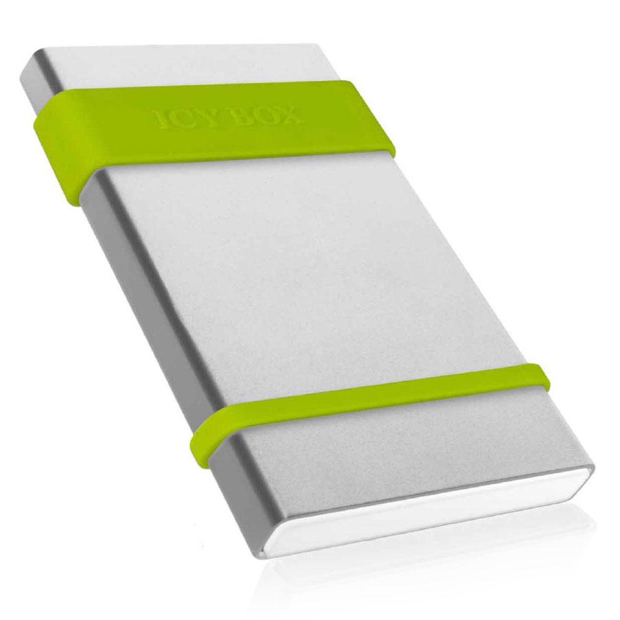 """Boîtier disque dur ICY BOX IB-252StU3 Boîtier externe 2.5"""" SATA sur port USB 3.0 avec bandes protectrices en silicone"""