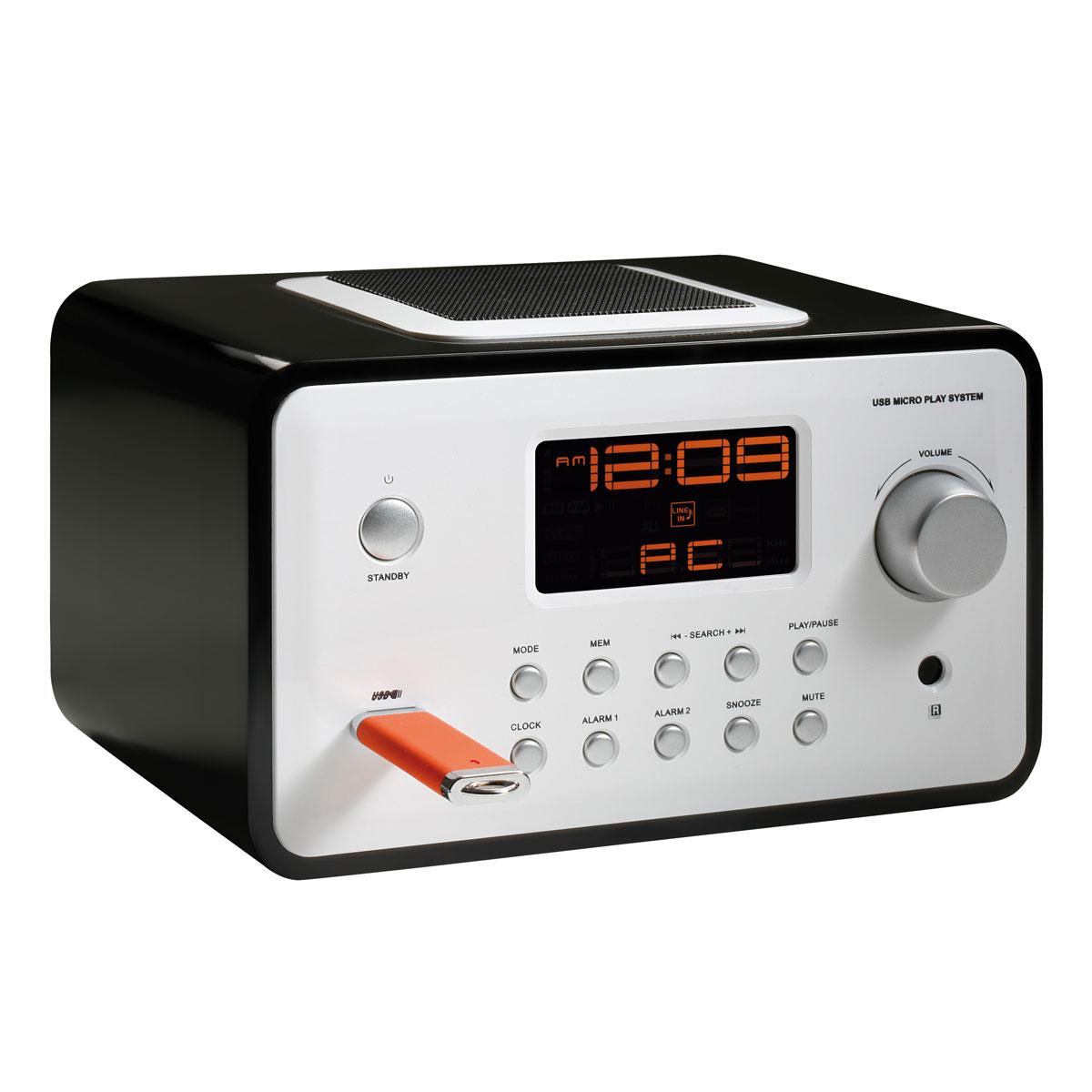 clipsonic ra1040n noir radio radio r veil clipsonic sur. Black Bedroom Furniture Sets. Home Design Ideas