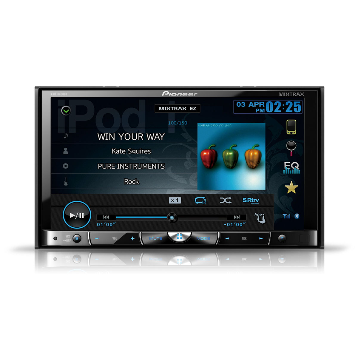 pioneer avh 8400bt autoradio pioneer sur. Black Bedroom Furniture Sets. Home Design Ideas