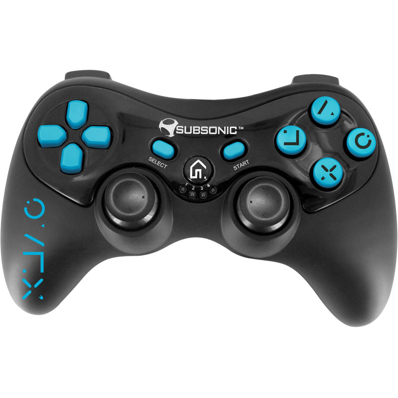 subsonic pro controller fluo collection bleu ps3 accessoires ps3 subsonic sur. Black Bedroom Furniture Sets. Home Design Ideas