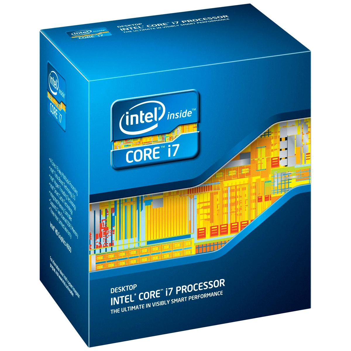 Processeur Intel Core i7-3770 (3.4 GHz) Processeur Quad Core Socket 1155 Cache L3 8 Mo Intel HD Graphics 4000 0.022 micron (version boîte - garantie Intel 3 ans)