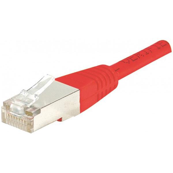 Câble RJ45 Câble RJ45 catégorie 5e F/UTP 0,15 m (Rouge) Câble RJ45 catégorie 5e F/UTP 0,15 m (Rouge)