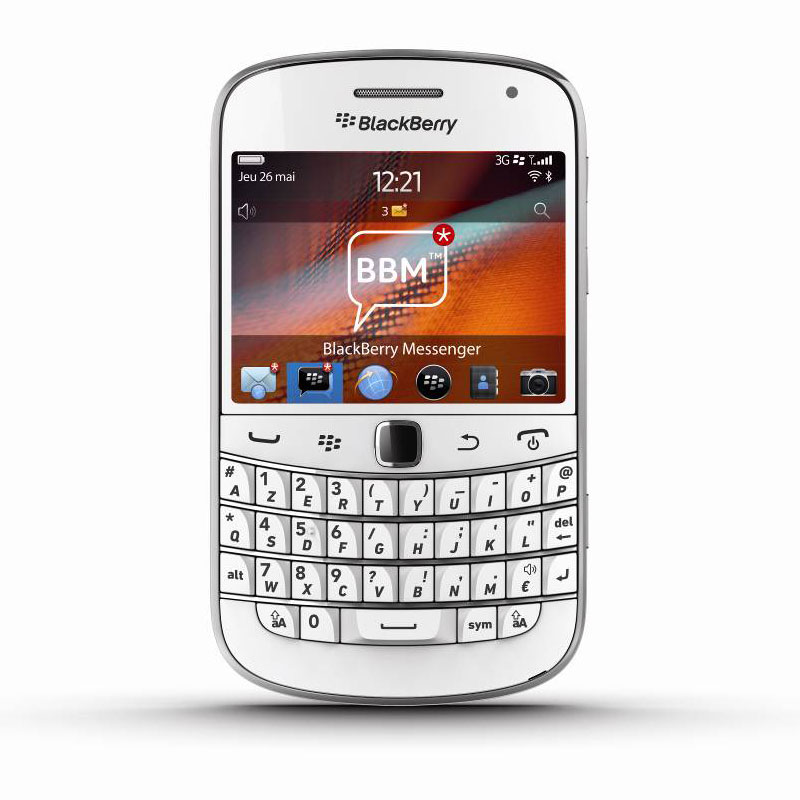 blackberry bold 9900 azerty blanc mobile smartphone blackberry sur. Black Bedroom Furniture Sets. Home Design Ideas