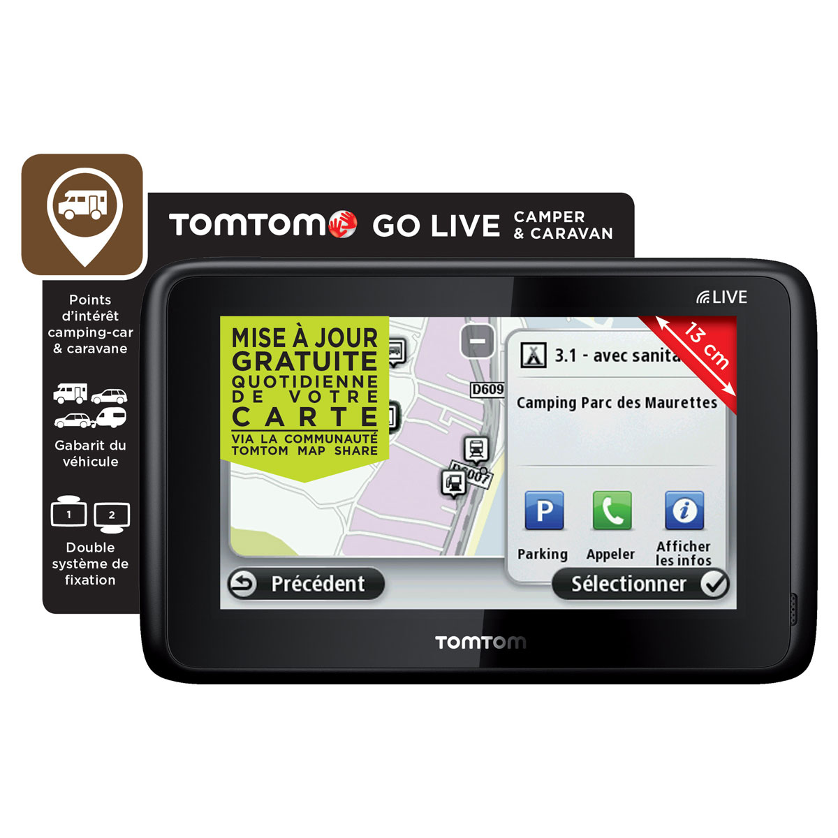 tomtom go live camper caravan gps tomtom sur. Black Bedroom Furniture Sets. Home Design Ideas