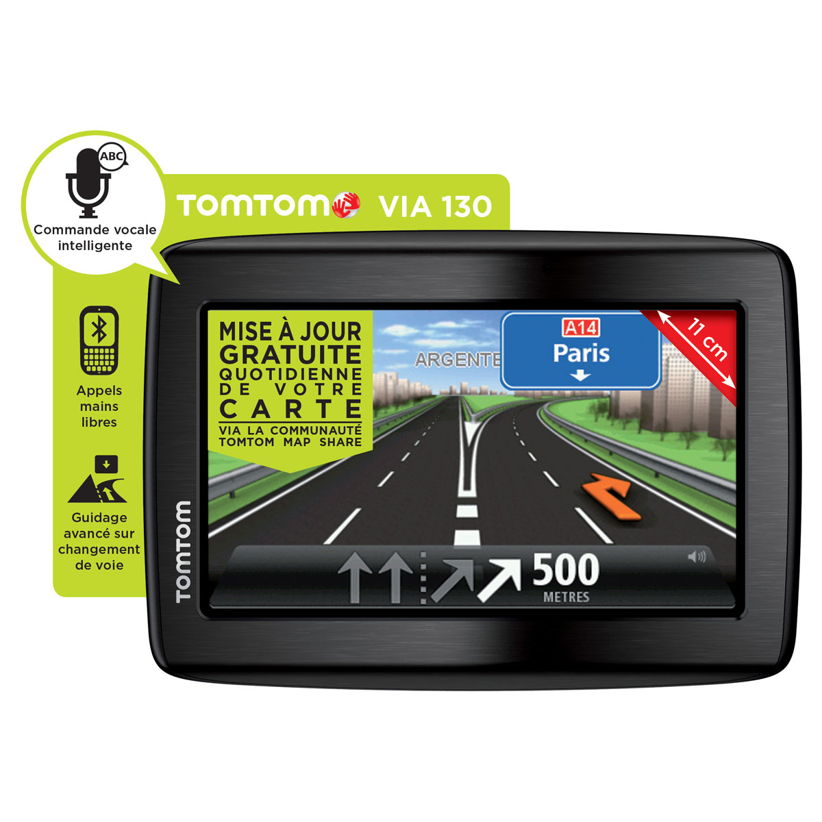 tomtom via 130 gps tomtom sur. Black Bedroom Furniture Sets. Home Design Ideas