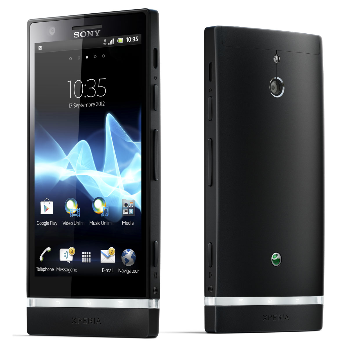 sony xperia p noir mobile smartphone sony sur. Black Bedroom Furniture Sets. Home Design Ideas