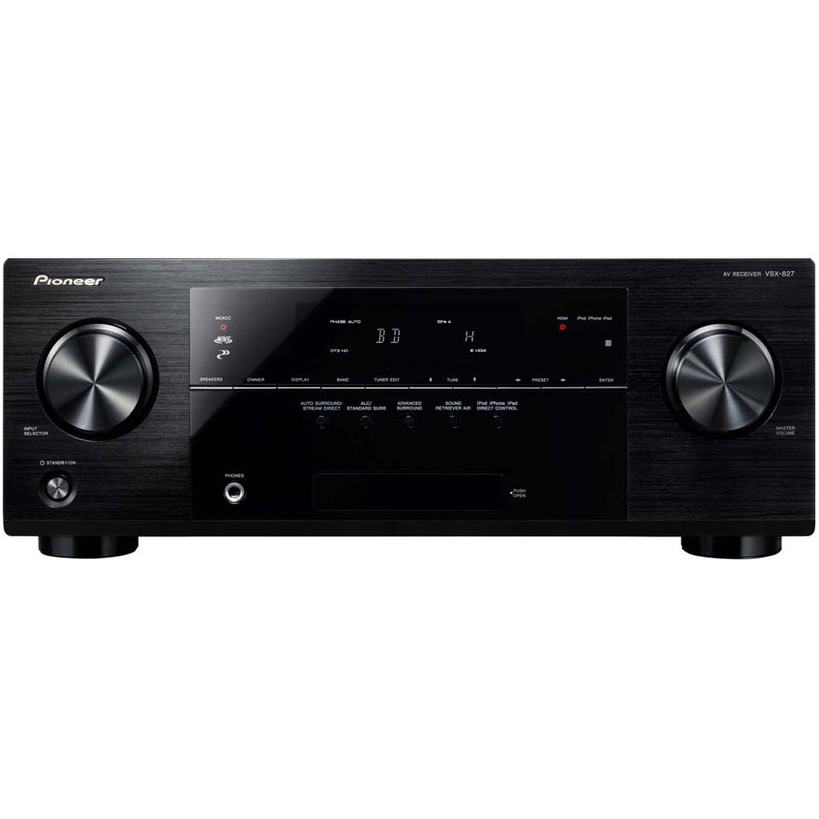 Ampli home cinéma Pioneer VSX-827 Ampli-tuner Home Cinéma 7.1 DLNA 3D Ready avec HDMI 1.4 et Décodeurs HD Airplay