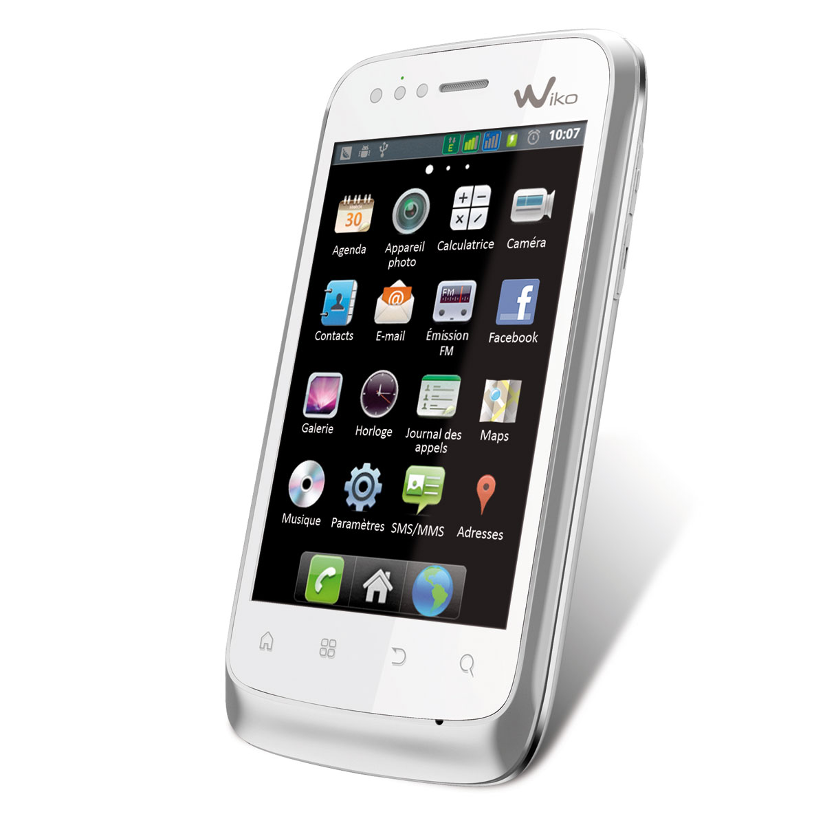 wiko cink blanc mobile smartphone wiko sur. Black Bedroom Furniture Sets. Home Design Ideas