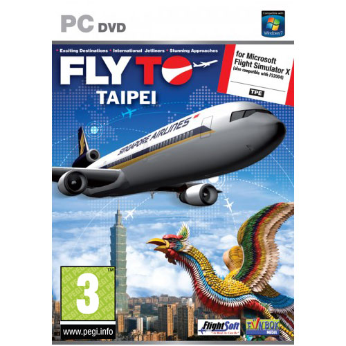 fly to taipei pc add on pour flight simulator x jeux pc fun box sur. Black Bedroom Furniture Sets. Home Design Ideas