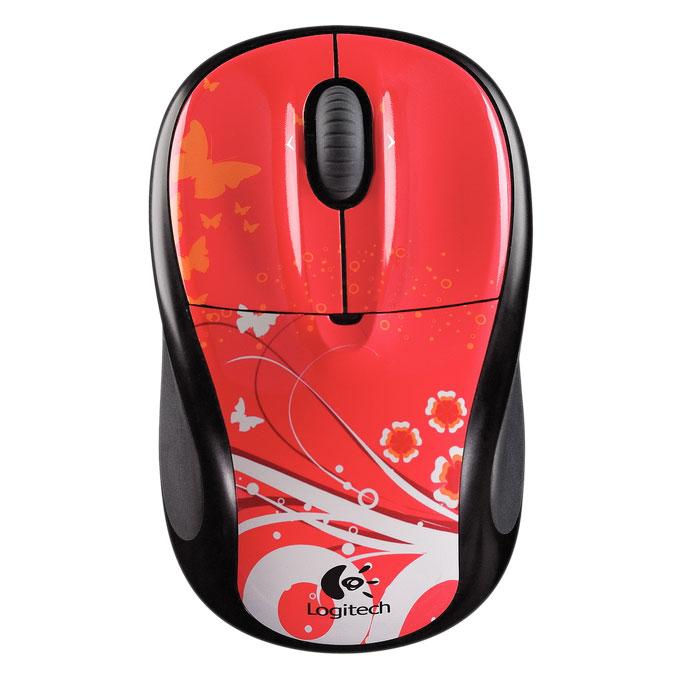 Souris PC Logitech Wireless Mouse M305 (Red Butterfly) Souris optique sans fil