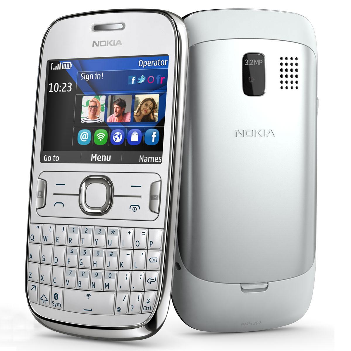 nokia asha 302 blanc mobile smartphone nokia sur. Black Bedroom Furniture Sets. Home Design Ideas